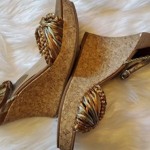 FIONI Clothing Shoes - Fioni cork wedge sandals
